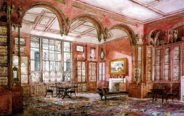 John Soane House Dining Room Illustrated by Karl Freiderich Schinkel