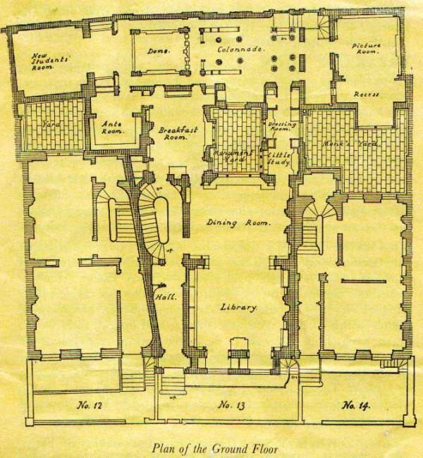 John Soane Ground Floor Plan