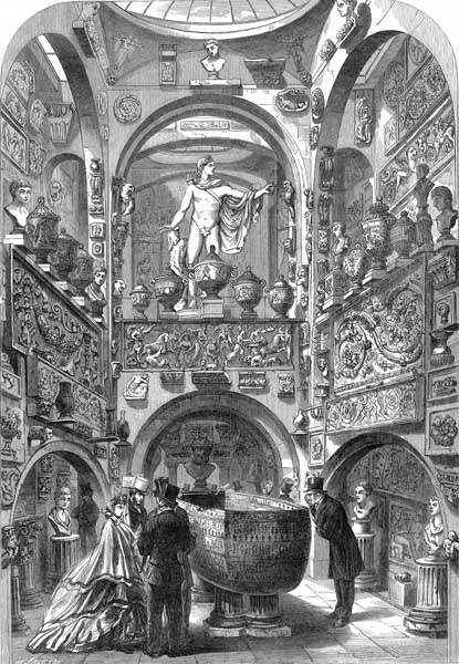 Soane threw parties in the chamber for three days to celebrate his winning bid for the sarcophagus of King Seti