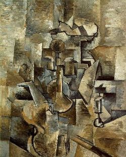 Georges Braque, 1910, Violin and Candlestick, oil on canvas, San Francisco Museum of Modern Art