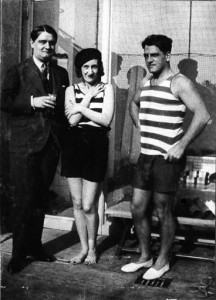 "The de Noailles' in a film still from ""Biceps et Bijoux"" by Man Ray."