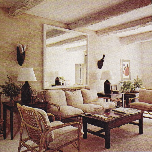 Van Day Truex's cottage, Chaumet, in Gargas, Provence. Photo by Michael Boys. The New York Book of Interior Design and Decoration, 1976.