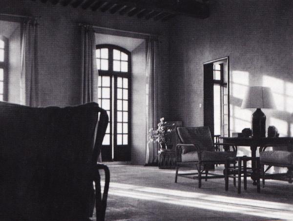 The grand salon in Truex's house in Gordes.