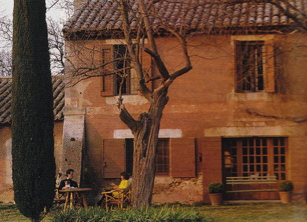 Mas Mireio, Jacques Grange's farmhouse in Provence. Photo from Provence Interiors by Lisa Lovatt-Smith.