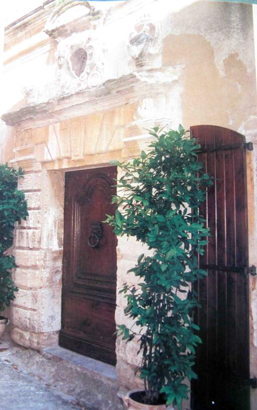 The entrance to Truex's Louis-XIII period residence in Gordes, Provence.