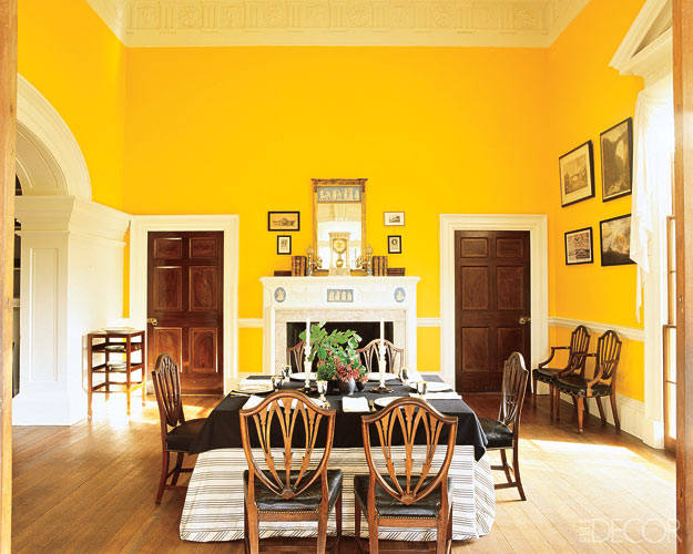 Until Recently The Dining Room At Monticello Had Been A Sedate Colonial Blue Since 1936