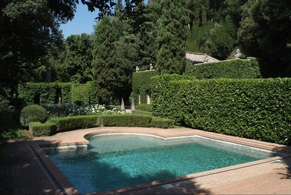 The swimming pool at Giancarlo Giammetti's villa in Tuscany. Photo by Isidoro Genovese.