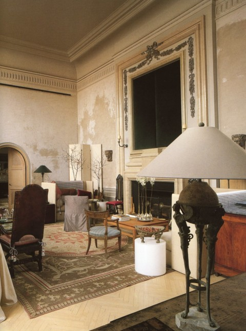 John Saladino's New York apartment as it appeared in the 1980's. Photo by Keith Scott Morton.