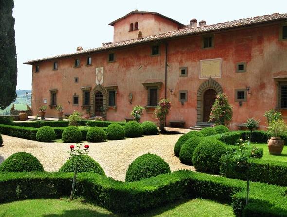 The 15th-century Villa Vignamaggio in the Chianti region.