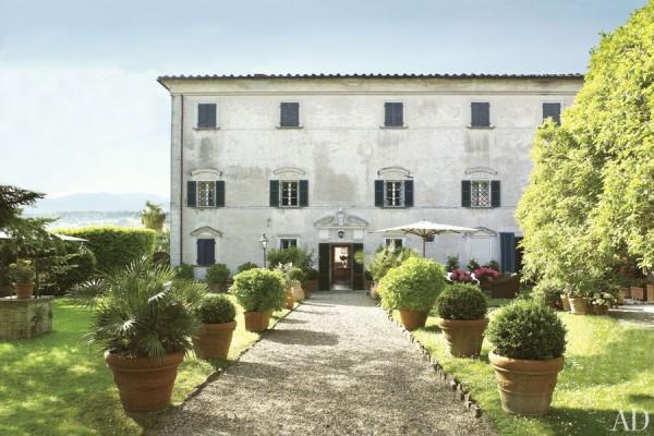 The Pratesi family's Tuscan Villa Lunardi. Photo by Pieter Estersohn.
