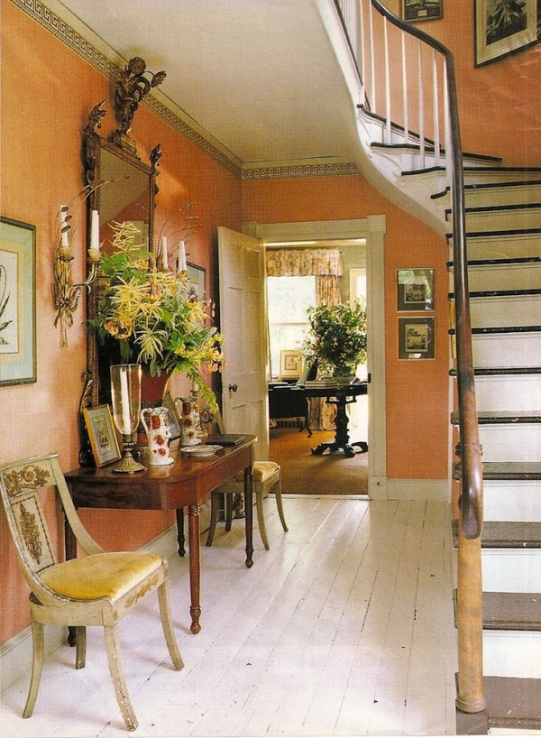The entry in Bunny Williams' Connecticut country house. From An Affair With A House by Bunny Williams.