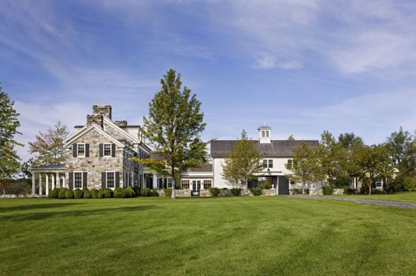 Longfield, an equestrian estate designed by architect Gil Schafer in Dutchess County.. Photo by John M. Hall.