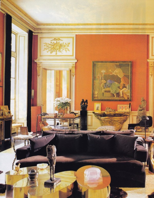The classically modern salon in Henri Samuel's Paris pied-a-terre. Town & Country; photo by Oberto Gili.