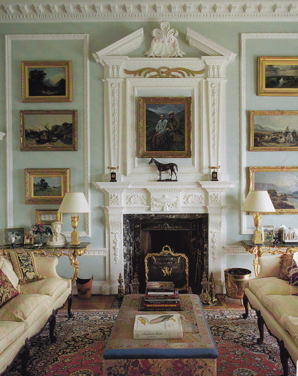 The great room at Lawers House, Scotland. Photo by James Mortimer.