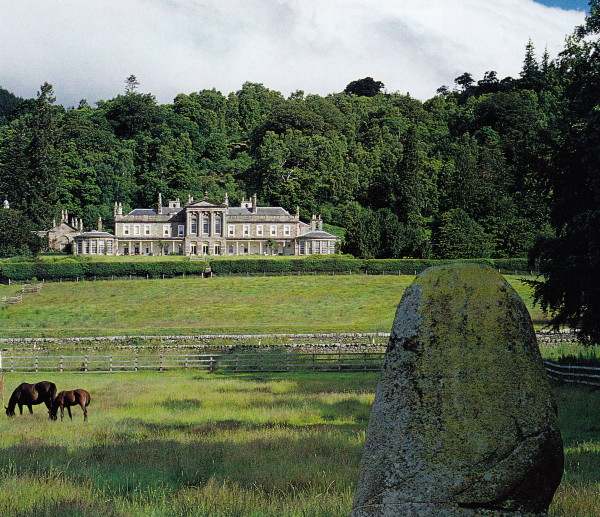 The Neoclassical Lawers House in Pertshire, Scotland, designed by William Adam in 1744. Photo by James Mortimer.