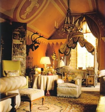 Nancy Lancaster's Gothic bedroom at Haseley Court. From Nancy Lancaster: English Country House Style.
