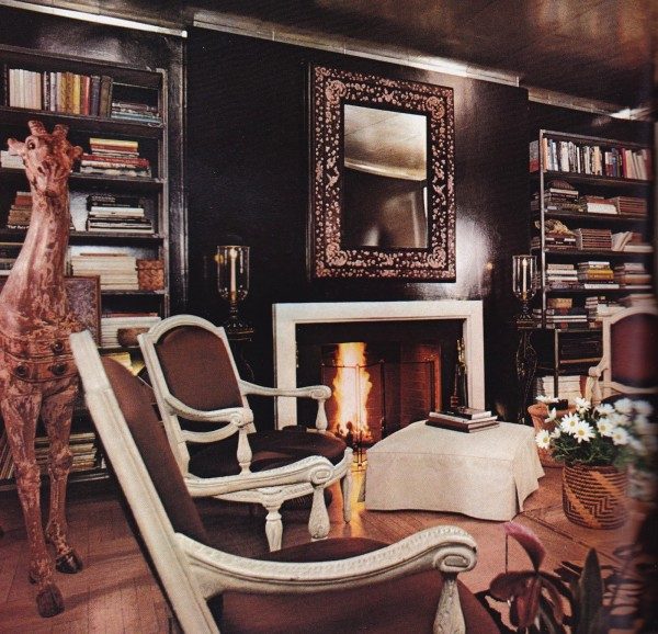 Albert Hadley; Architectural Digest 1976. Photo by William Steele.