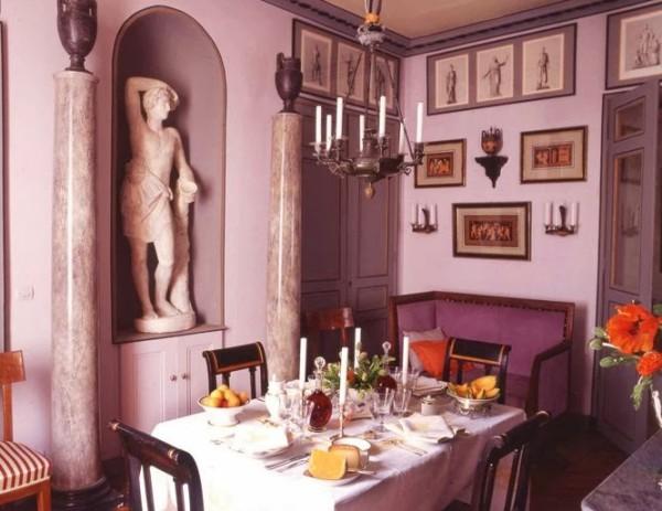 Neoclassical splendor in Bruno de Caumont's intimate Marais dining room. House & Garden; photo by Pascal Chevalier.