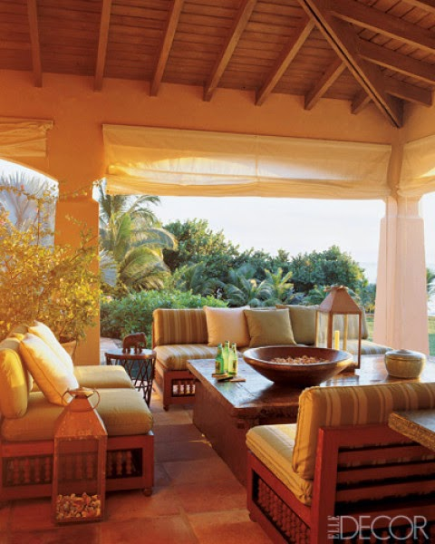 Phillip Hooper of Colefax & Fowler designed a Moroccan-inspired getaway in the Caribbean for a young English family. Photo by William Waldron.