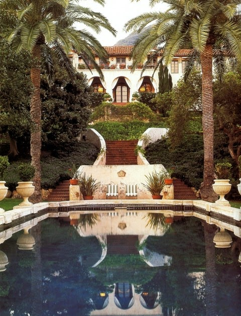 Hollywood glamour of a bygone era lives on at La Quinta, the one-time villa of Diandra and Michael Douglas in Montecito, California. Photo by Lisa Romerein.