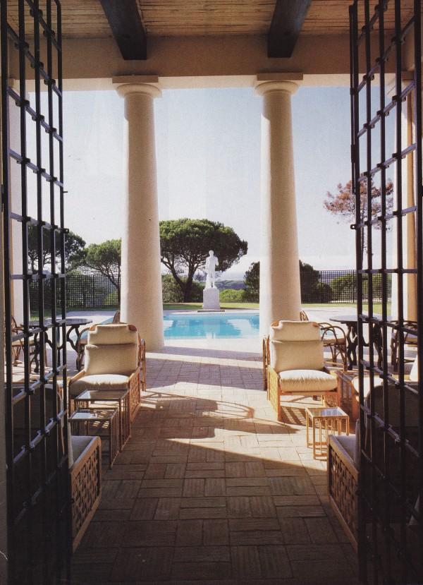 The portico of David Hick's Villa Verde in Portugal. Photo by Alexander von der Schulenburg for House & Garden.