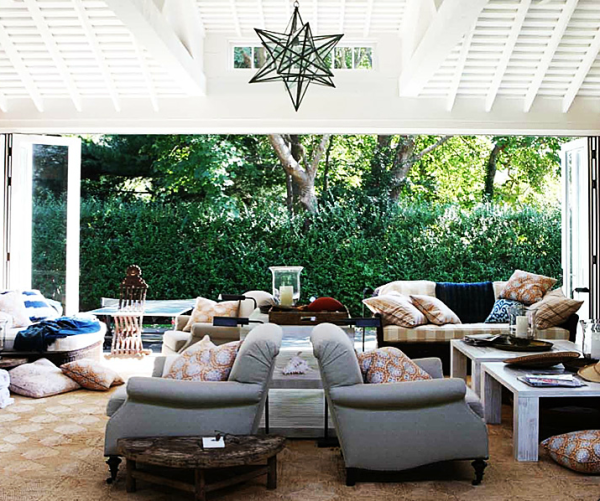 A veranda decorated by Jeffrey Bilhuber classic, chic and entirely American by design. From his book, The Way Home.