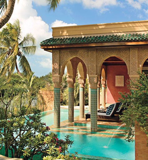 A lavish yet modestly scaled pleasure palace designed by Todd Black for model, actress and writer Veronica Webb and her family in Key West, Florida. Photographed by Ken Hayden for Architectural Digest.