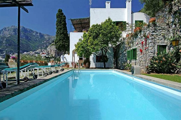 The pool at Villa Maura is one of only four private pools in Positano.