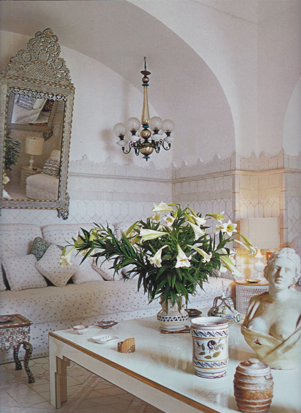 Another view of the white salon originally photographed by Horst for Vogue.