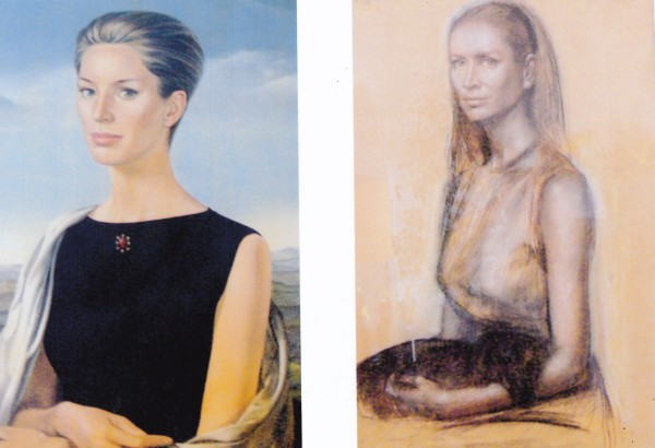 Two portraits of Maura Boylan-Teissier hang in two separate guest rooms at Villa Maura.