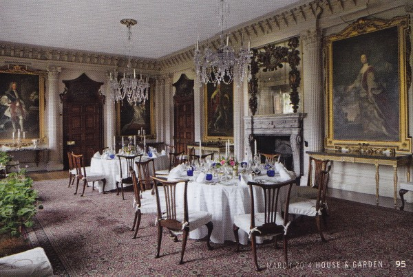 The Great Dining Room-Badminton House-British House and Garden March 2014-James Fennell