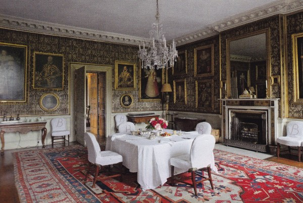 The Family Dining Room-Badminton House-British House and Garden March 2014-James Fennell