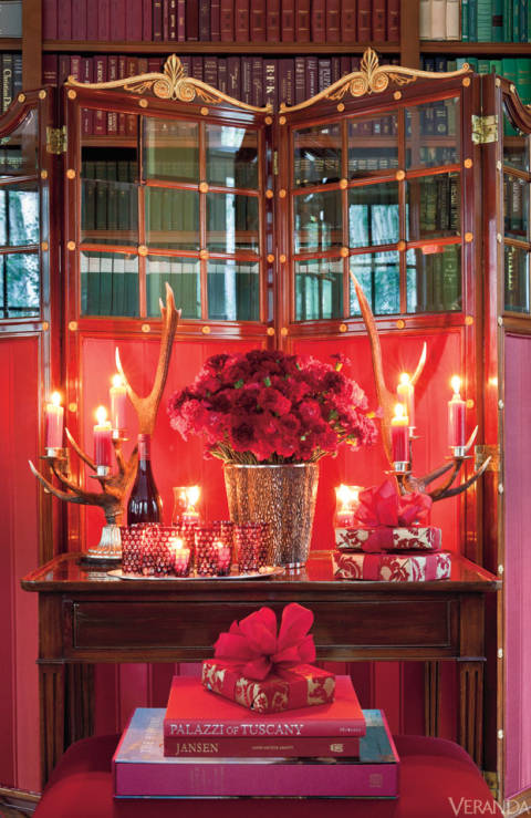 A vignette created by Carolyne Roehm in her Aspen retreat.