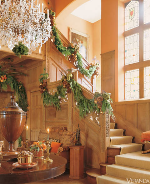 A grand entry hall decorated by Mary McDonald.