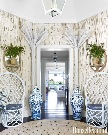 The entrance to Amanda Lindroth's Lyford Cay villa in the Bahamas. Photo by Bjorn Wallander.