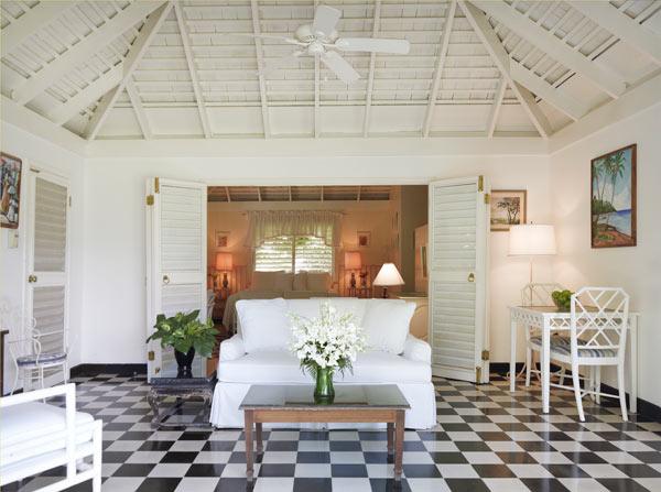 A guest villa at Roundhill, Jamaica.