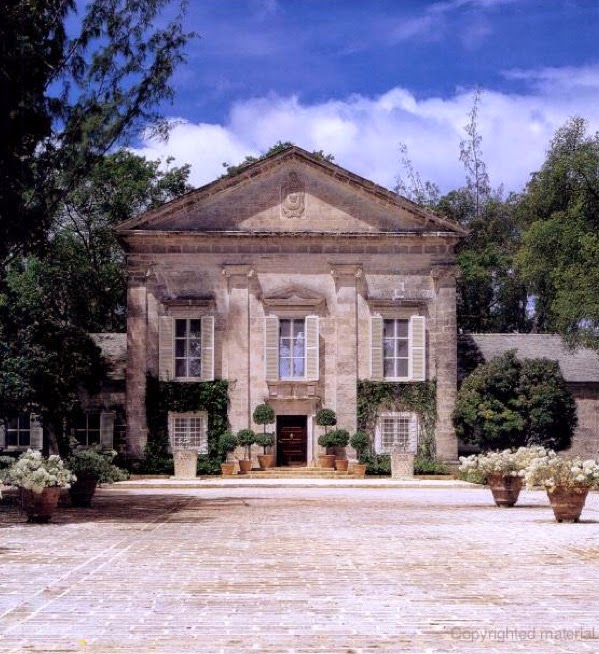 Heron Bay, the Palladian-style villa in Barbados. Photo from Architecture Design in Barbados via The Devoted Classicist.