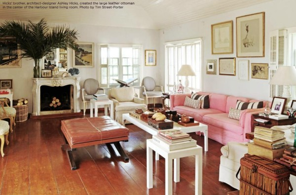 India Hicks low-key style at Hibiscus Hill, her home in the Bahamas. Photo by Tm Street Porter.