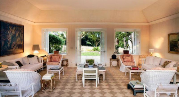 Patrician style in the late Bunny Mellon's retreat on Antiqua. Photo via Christies.