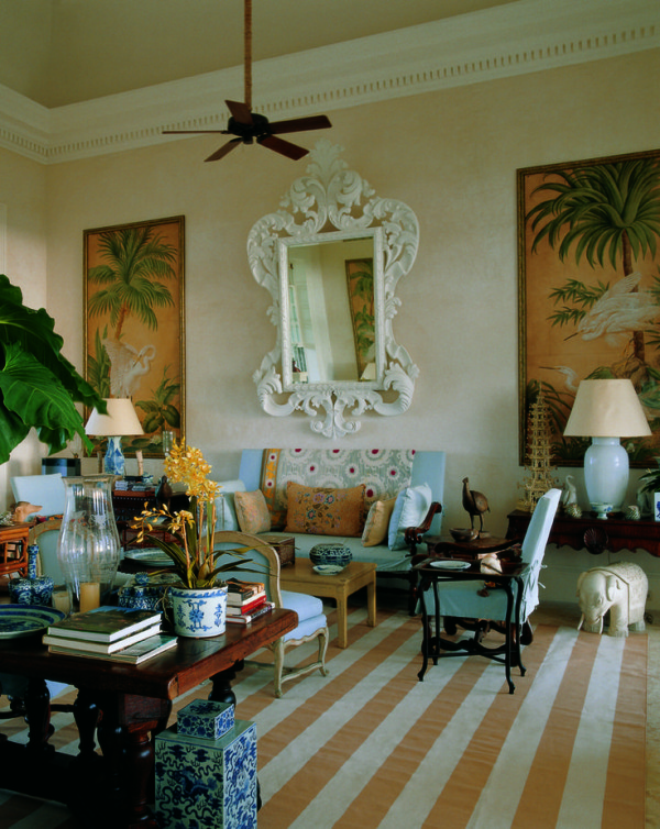 The great room in Bunny Williams and John Rosselli's villa in the Dominican Republic. From Bunny Williams: A Point of View.