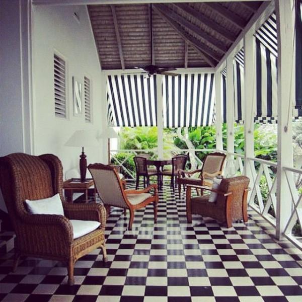 The veranda at Roundhill, Jamaica.