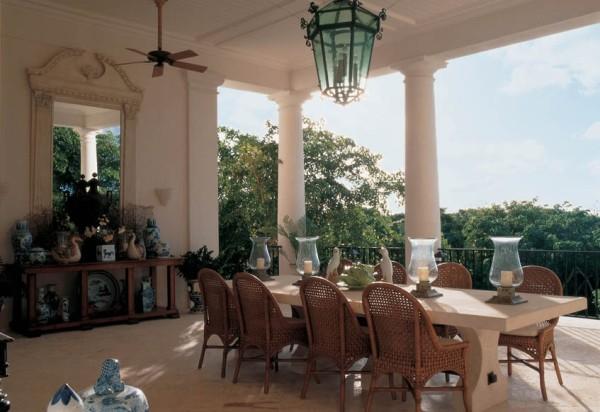The dining pavilion at Bunny Williams' Punta Cana retreat. Photo via Bunny Williams on-line.