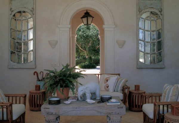 A restful garden room at Bunny Williams retreat. From Bunny Williams on-line.