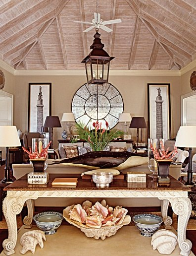 Grant White gave a new home on Mustique inspired by Oliver Mesel Colonial-style flavor. Photo by Tim Beddow.