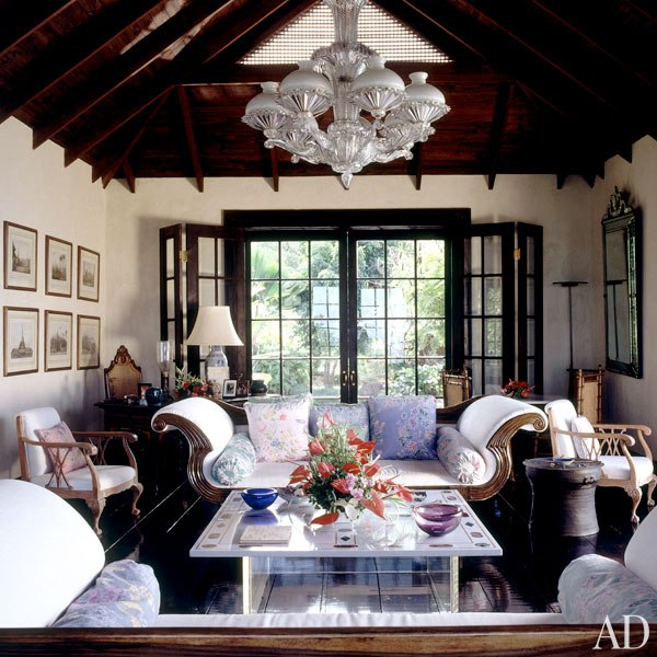 A Javanese aesthetic imbues David Bowie and Iman's Mustique retreat. Photo by Derry Moore for Architectural DIgest.