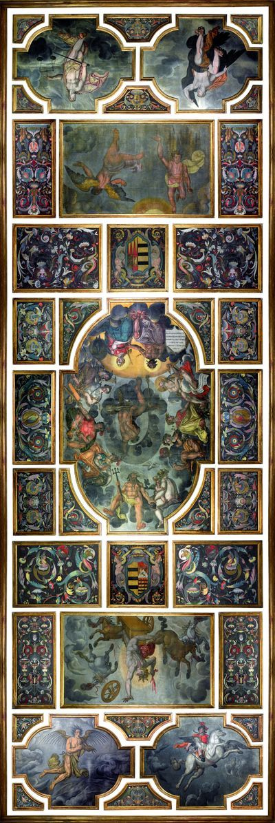 Pacheco Room-Ceiling Mural-Francisco Pacheco-Casa Pilatos-Seville-Spain