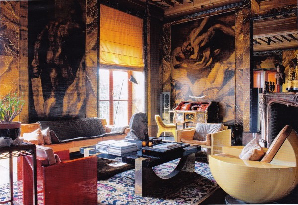 Jean-Claude Binoche-Salon-Josep Maria Sert murals-German AD May 2015-Guillaume de Laubier