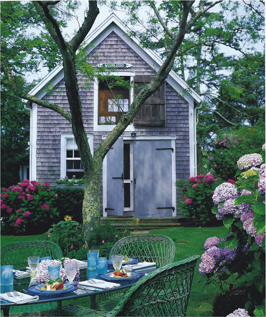 A Nantucket cottage featured in Gourmet magazine, 1998.