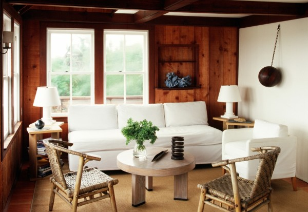 Naturally chic, a Sagaponack beach house designed by James Huniford. Photo by Joshua McHugh.