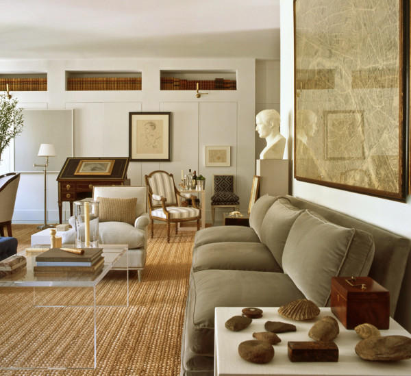 A classic mix in the previous home of interior designer Bruce Budd.